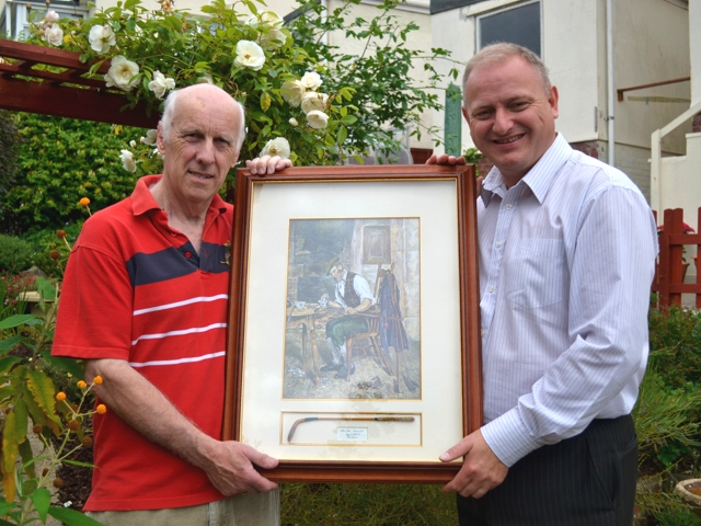 Councillor Ian Roome with Nick Pearce - Royal and Ancient by D. Sadler