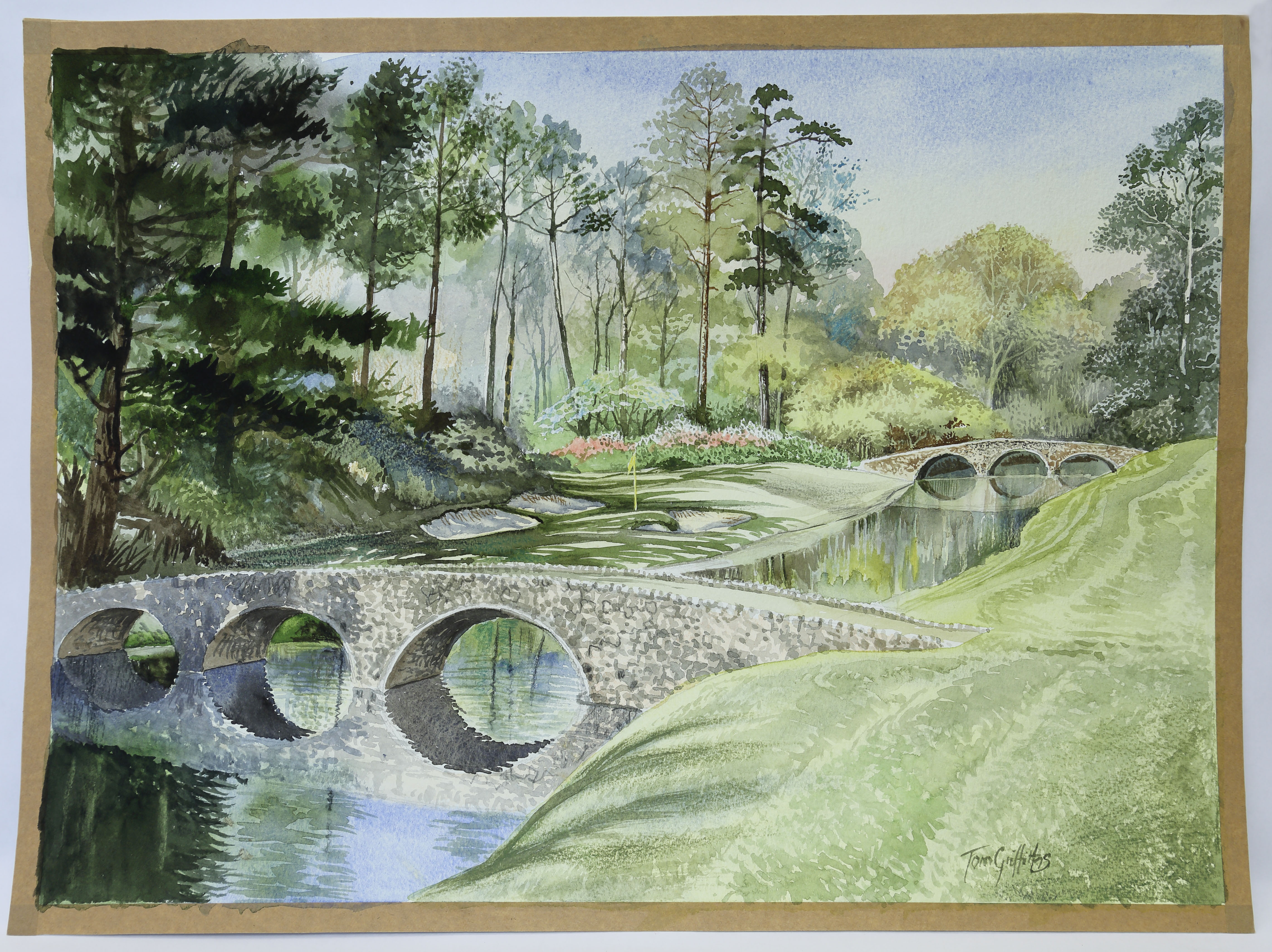 Twelfth Hole - Augusta National by T. Griffiths