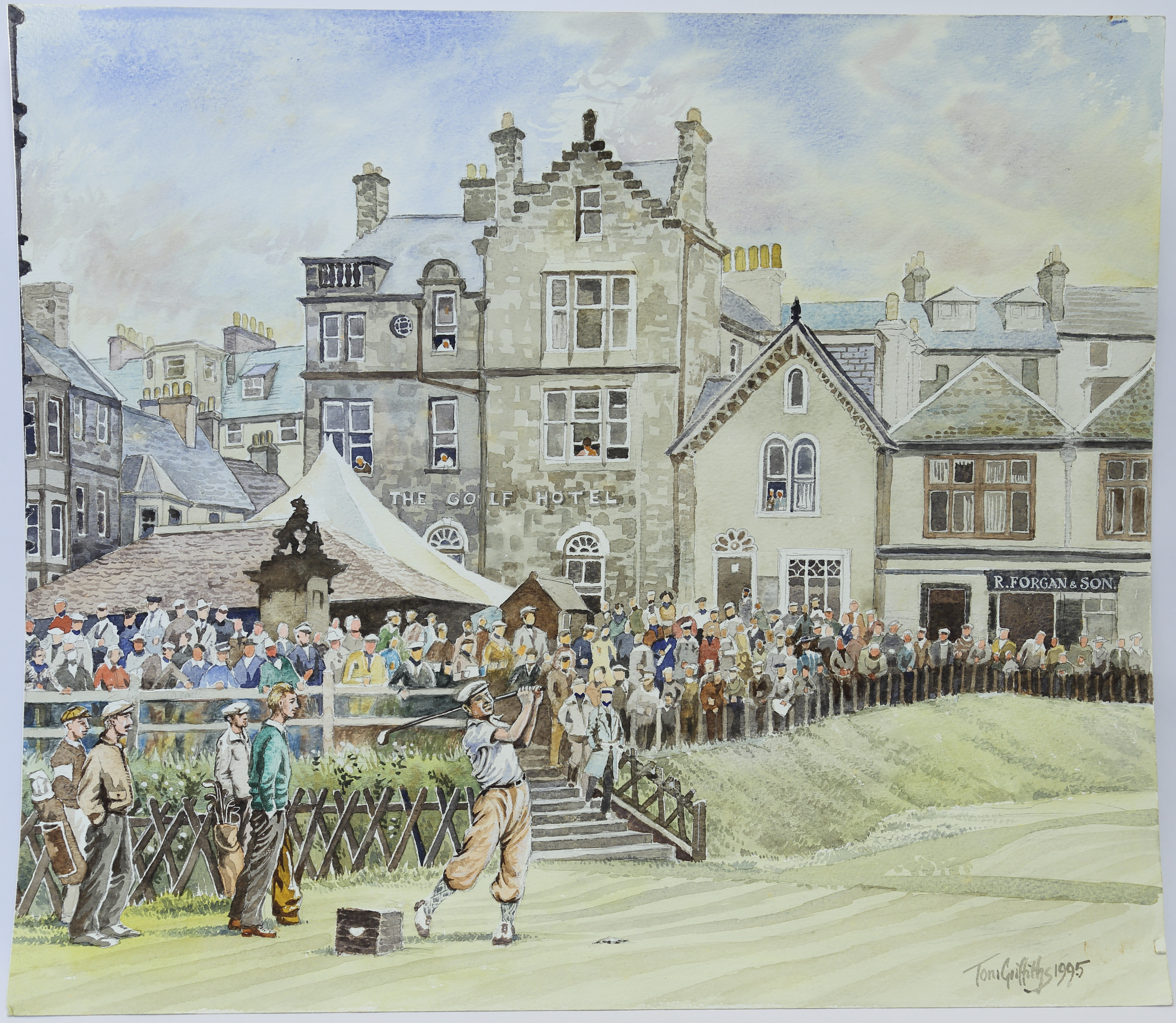 Bobby Locke at St. Andrews by T. Griffiths